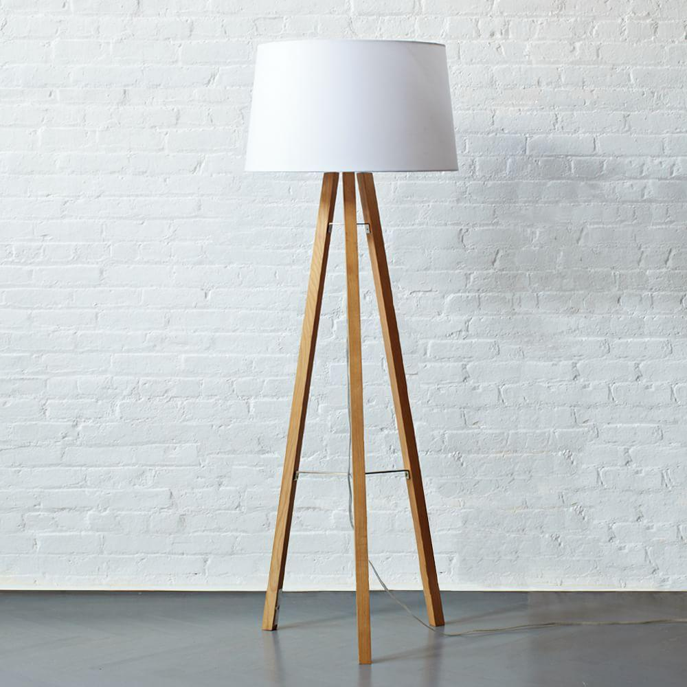 Tripod Wood Floor Lamp West Elm Uk