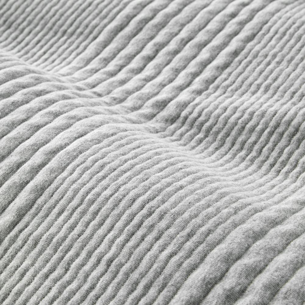 Cotton Cloud Jersey Quilt Cover + Pillowcases - Medium Heather Grey