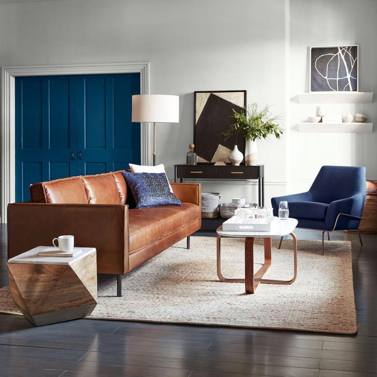 Axel Leather Sofa (226 cm)