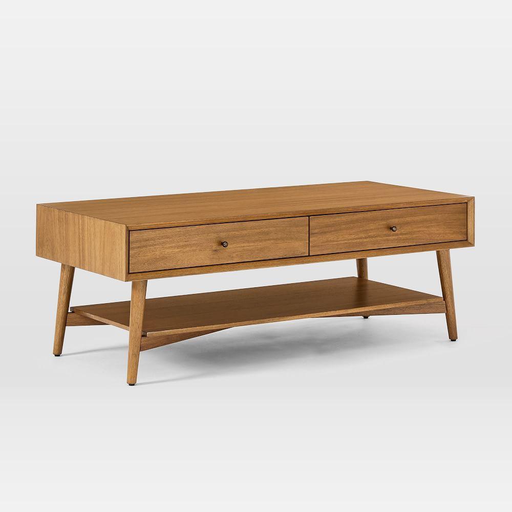 Mid-Century Storage Coffee Table - Acorn