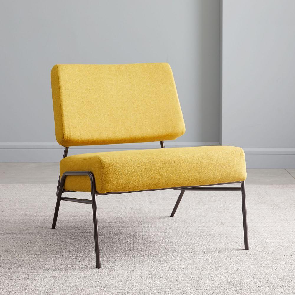 Wire Frame Slipper Chair