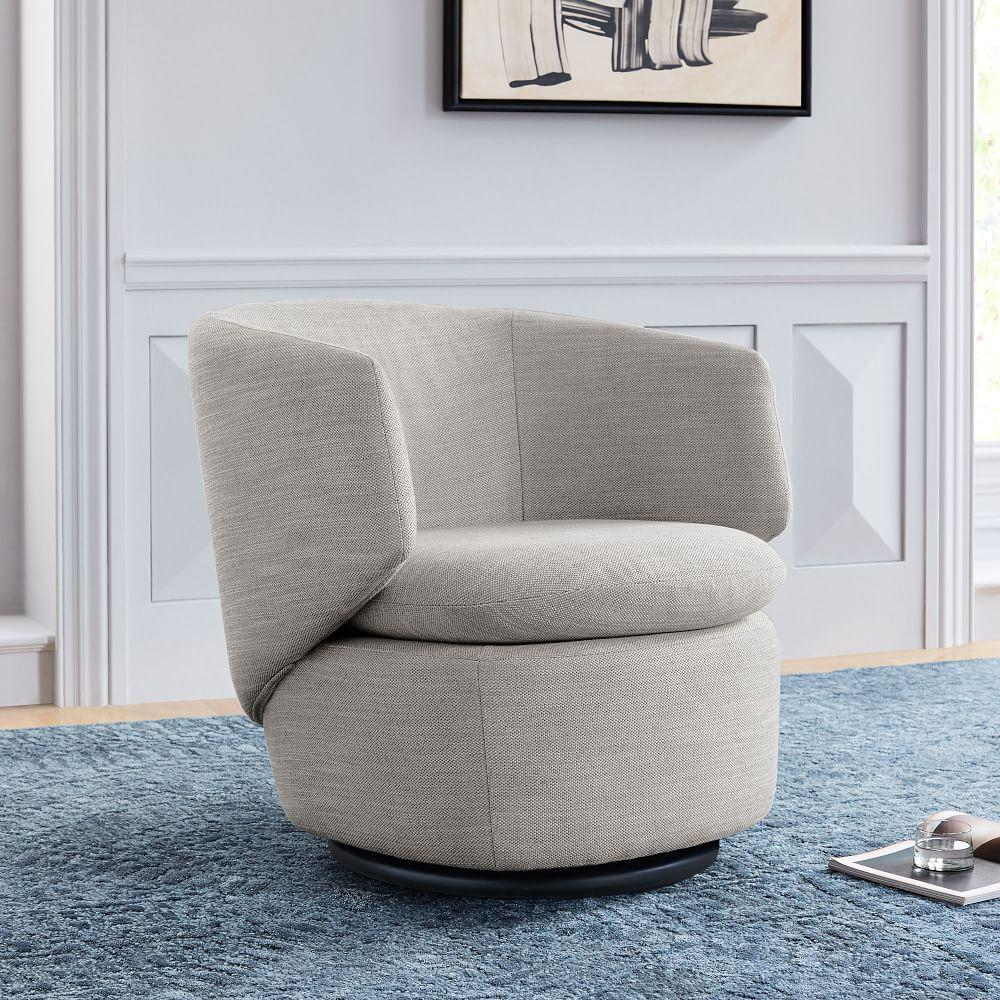 Swell Crescent Swivel Chair West Elm Uk Gmtry Best Dining Table And Chair Ideas Images Gmtryco