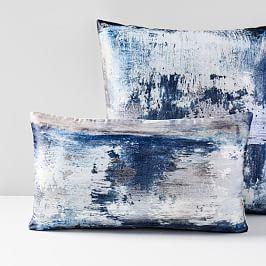 Abstract Haze Brocade Cushion Cover