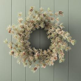 Pure Wreath with Pinecone Accent