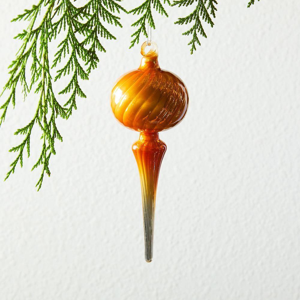 Glass Drip Ornament