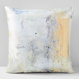 Gold Swipe Brocade Cushion Cover