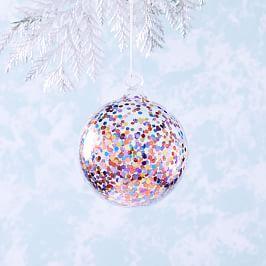 Glass Confetti Ball