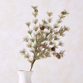 Pine Spray with Pinecones - Gold