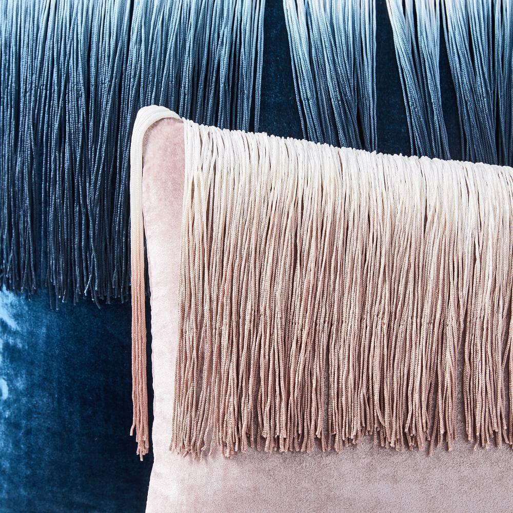 Lush Velvet Tassel Fringe Cushion Cover
