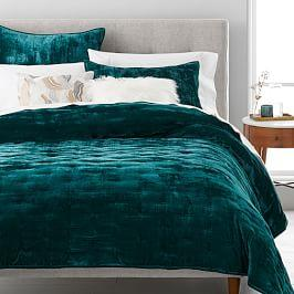 Lush Tack Stitch Bedspread + Pillowcases - Botanical Garden
