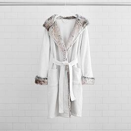 Faux Fur Lined Jersey Robe