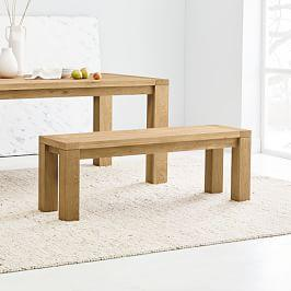 Tahoe Solid Wood Dining Bench - Natural Oak, 132 cm