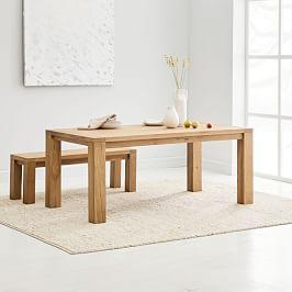 Tahoe Solid Wood Dining Table - Natural Oak, 183 cm