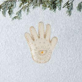 Felt Beaded Hamsa Hand Ornament