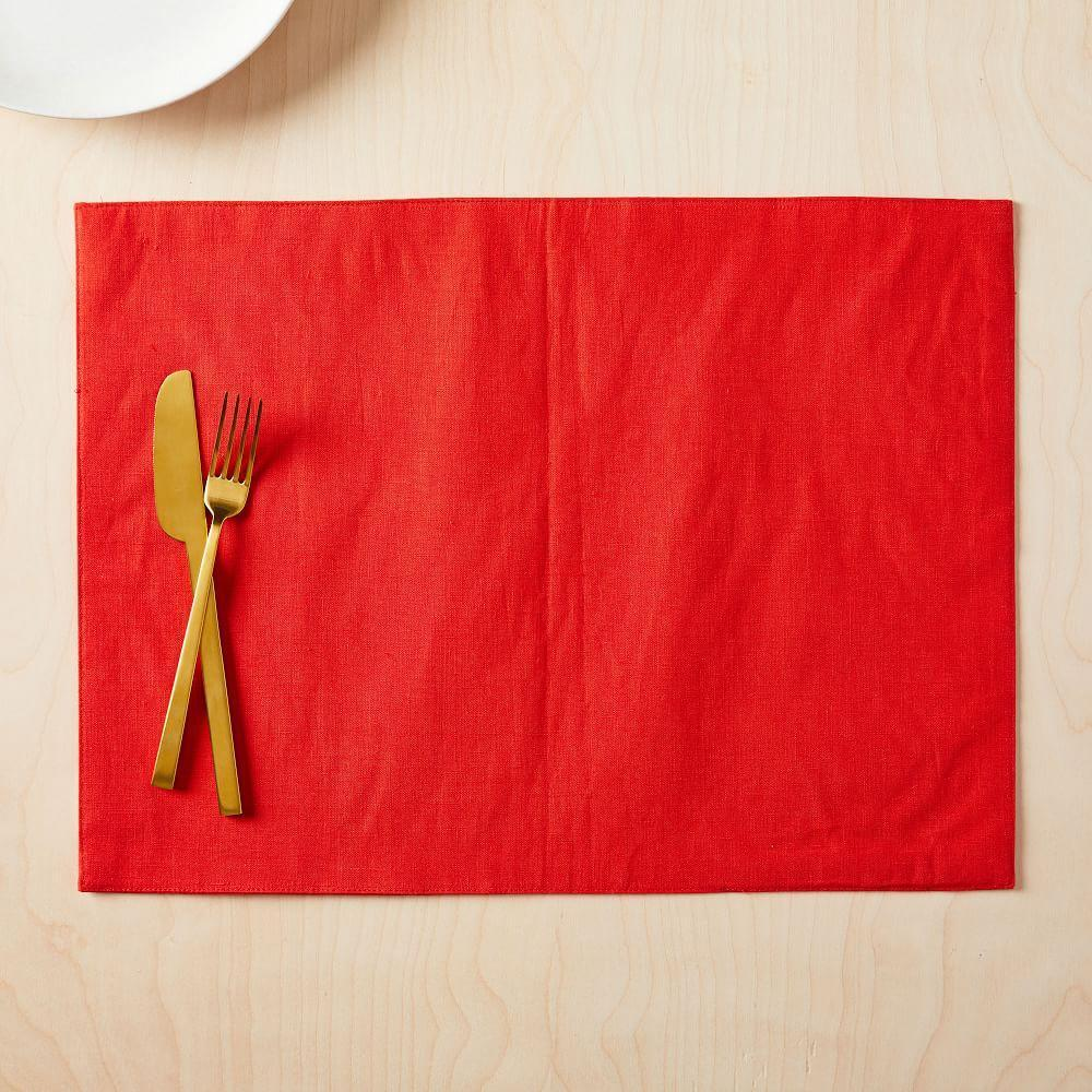 Belgian Flax Linen Placemat Set - Lined (Set of 2)