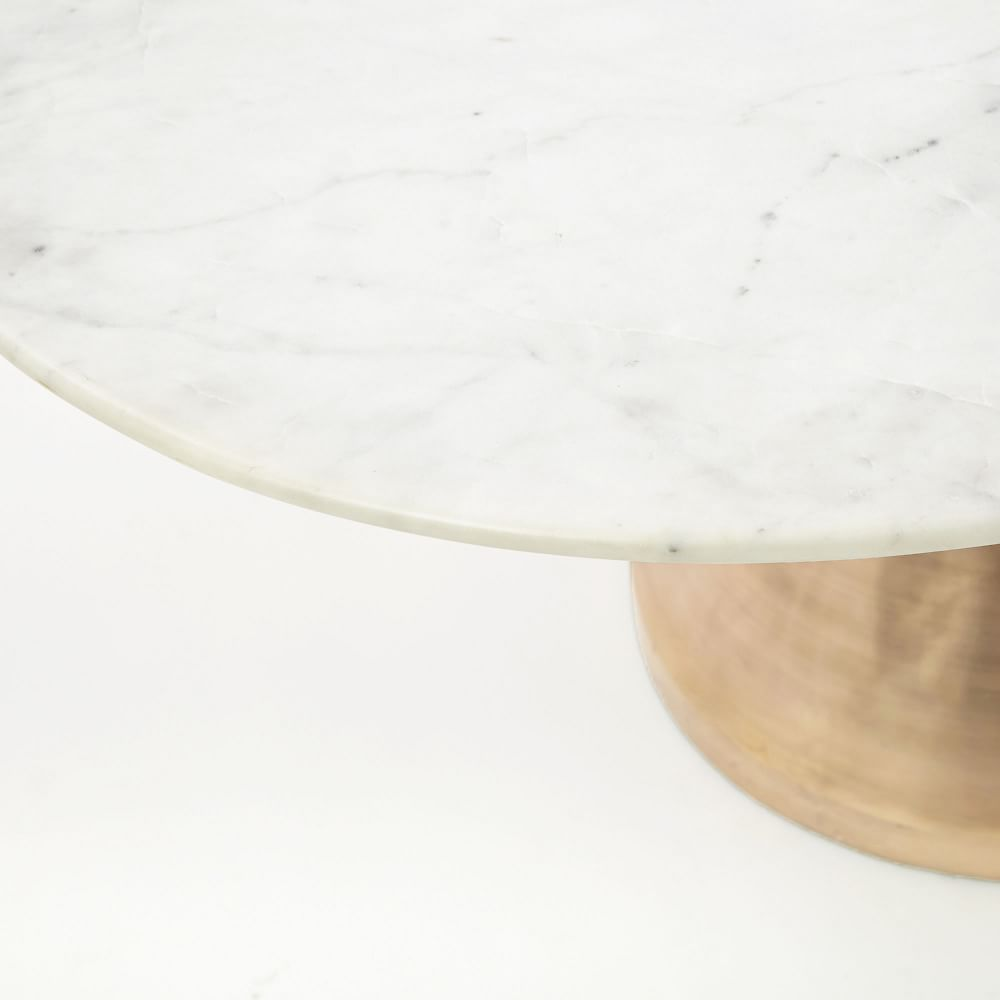 Silhouette Pedestal Dining Table - Round (White Marble)