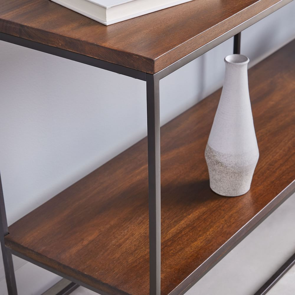Streamline Bookshelf (152 cm) - Dark Walnut Mango Wood