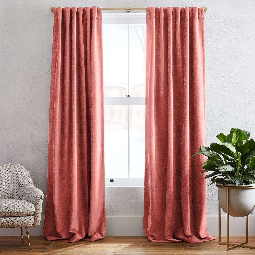 Worn Velvet Curtain + Blackout Lining