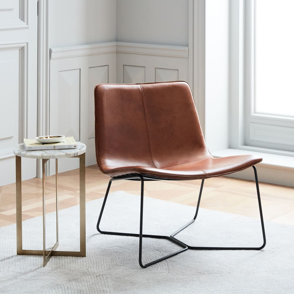 Slope Leather Lounge Chair