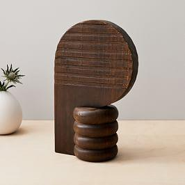 Diego Olivero Wood Geo Objects - Tall Round