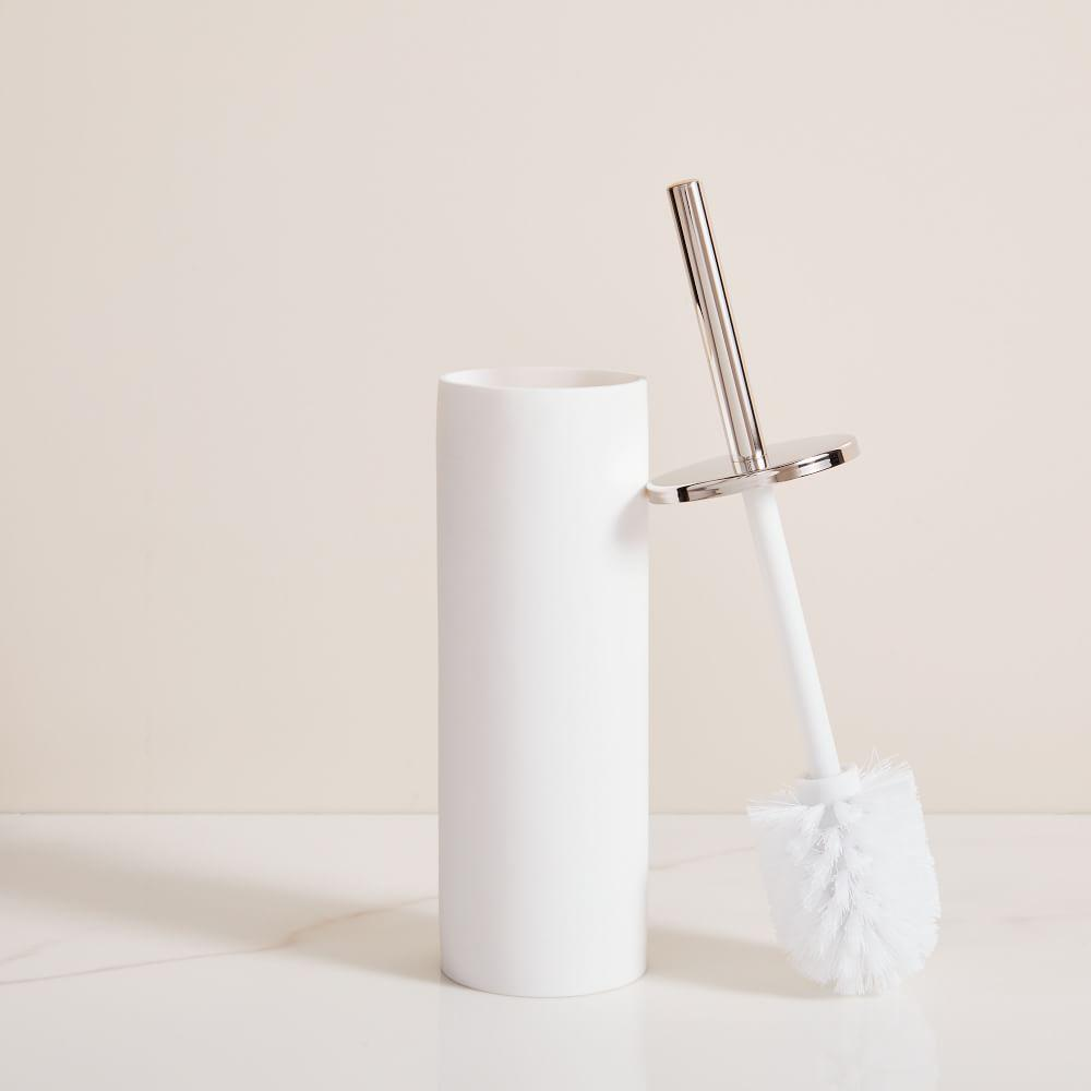 Modern Resin Toilet Brush - Nickel