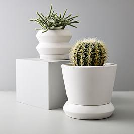 Totem Tabletop Planters - White
