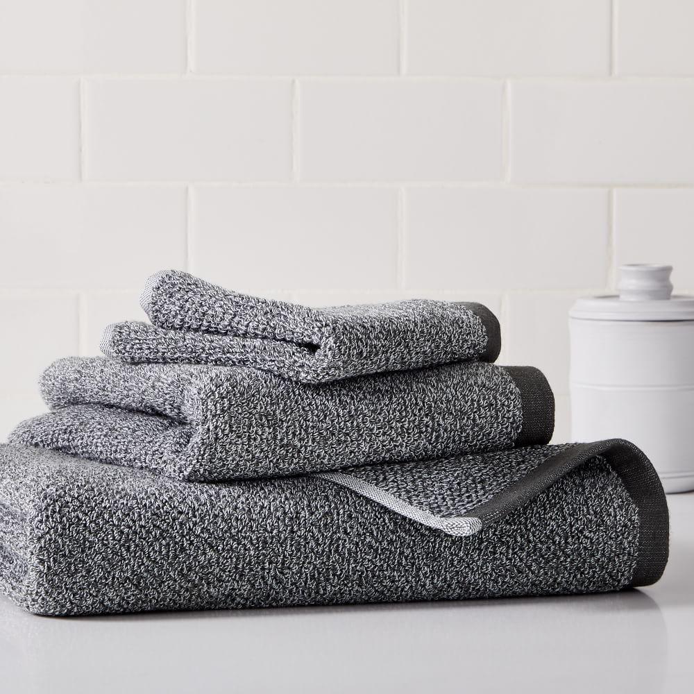 Organic Heathered Towels - Grey Dusk