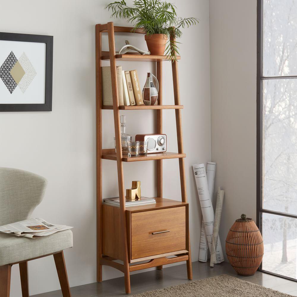 Mid-Century 56 cm Bookshelf - Acorn