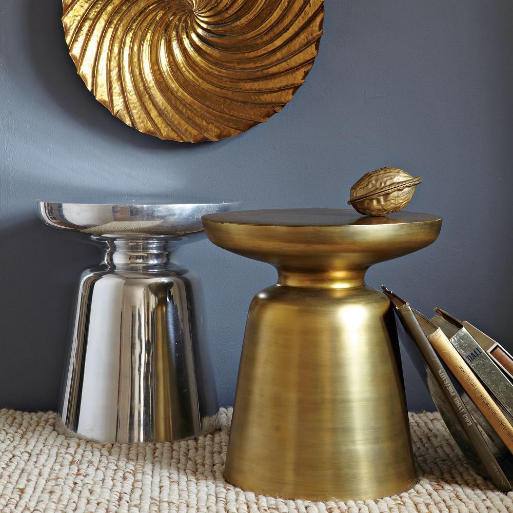 Martini Side Table - Metallics