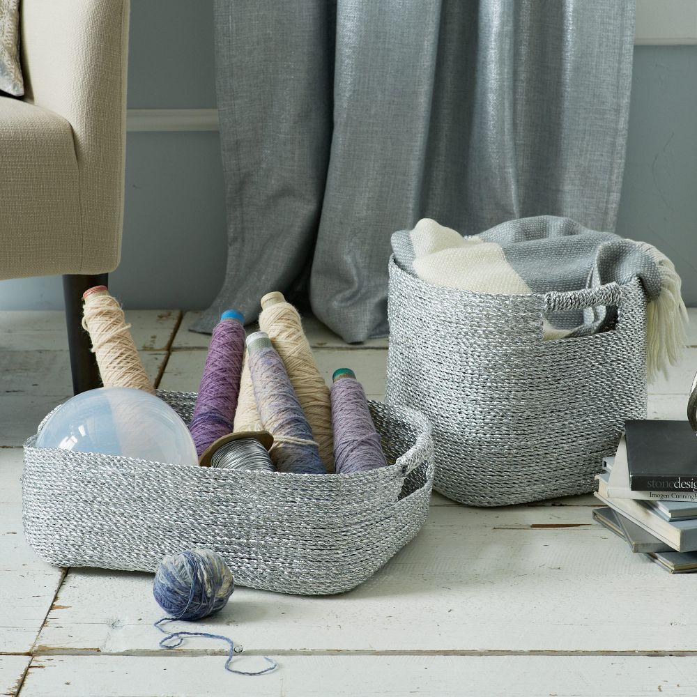 Metallic Woven Baskets