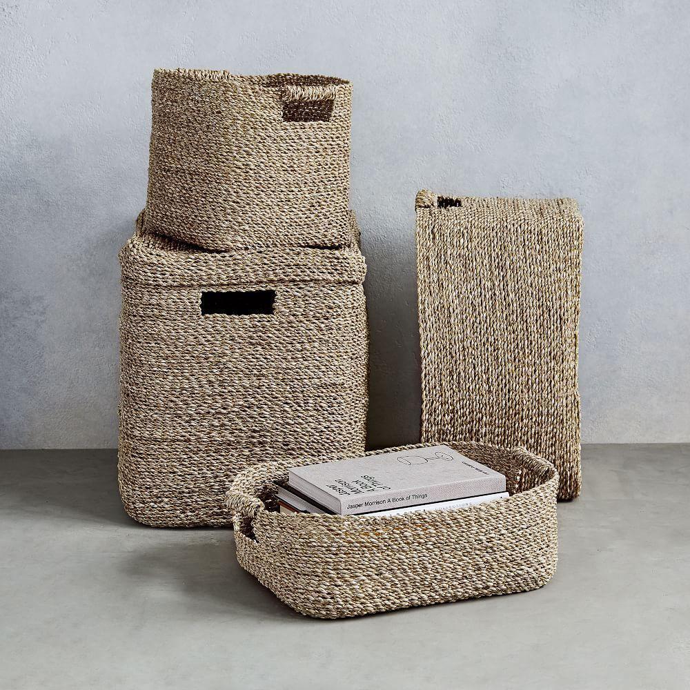 Metallic Woven Storage Baskets