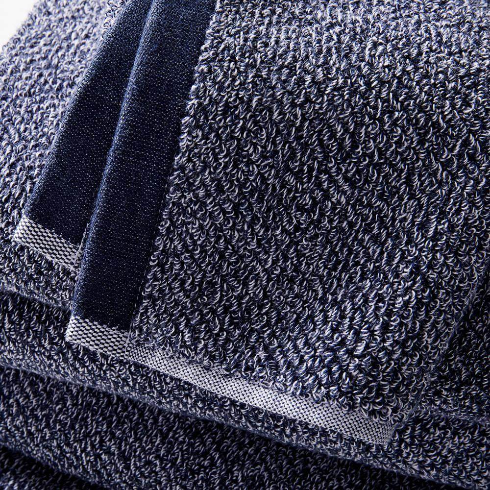 Organic Heathered Towels - Granite Blue