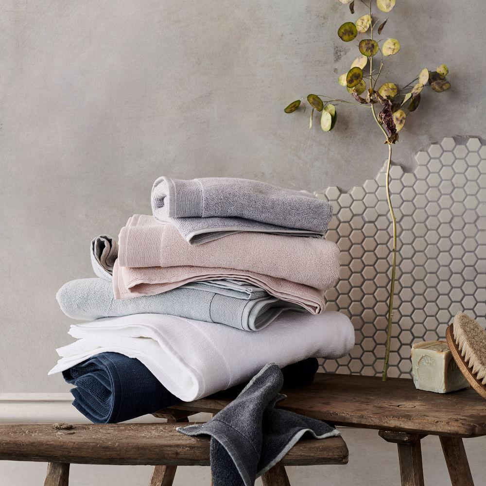 Organic Luxe Fibrosoft™ Towels - Sea Salt Blue