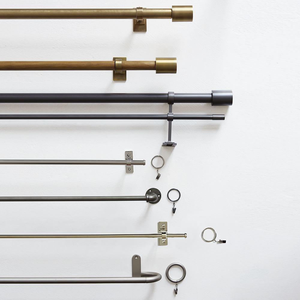 Oversized Adjustable Metal Double Rod - Gunmetal