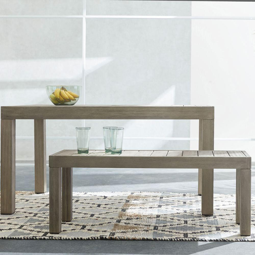 Portside Garden Dining Bench - Weathered Grey