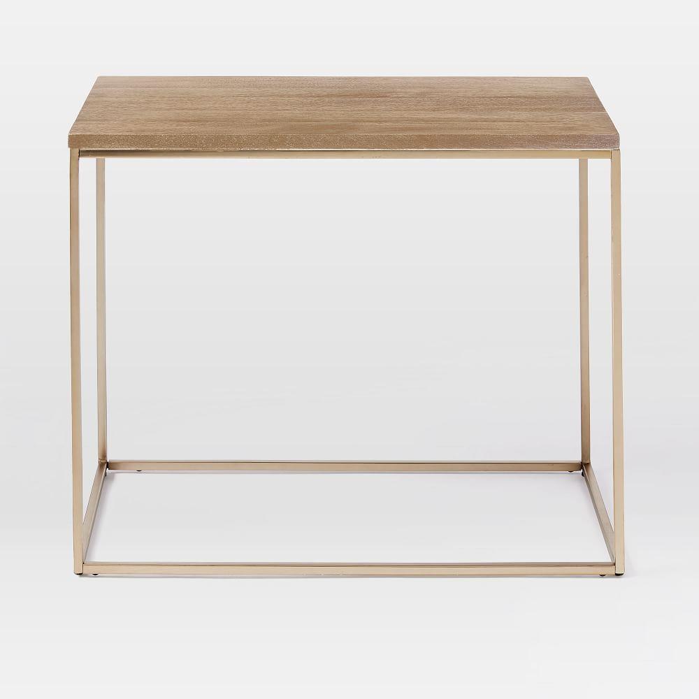 Streamline Side Table (71 cm) - Whitewashed Mango Wood