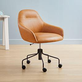 Valentina Leather Office Chair - Honey