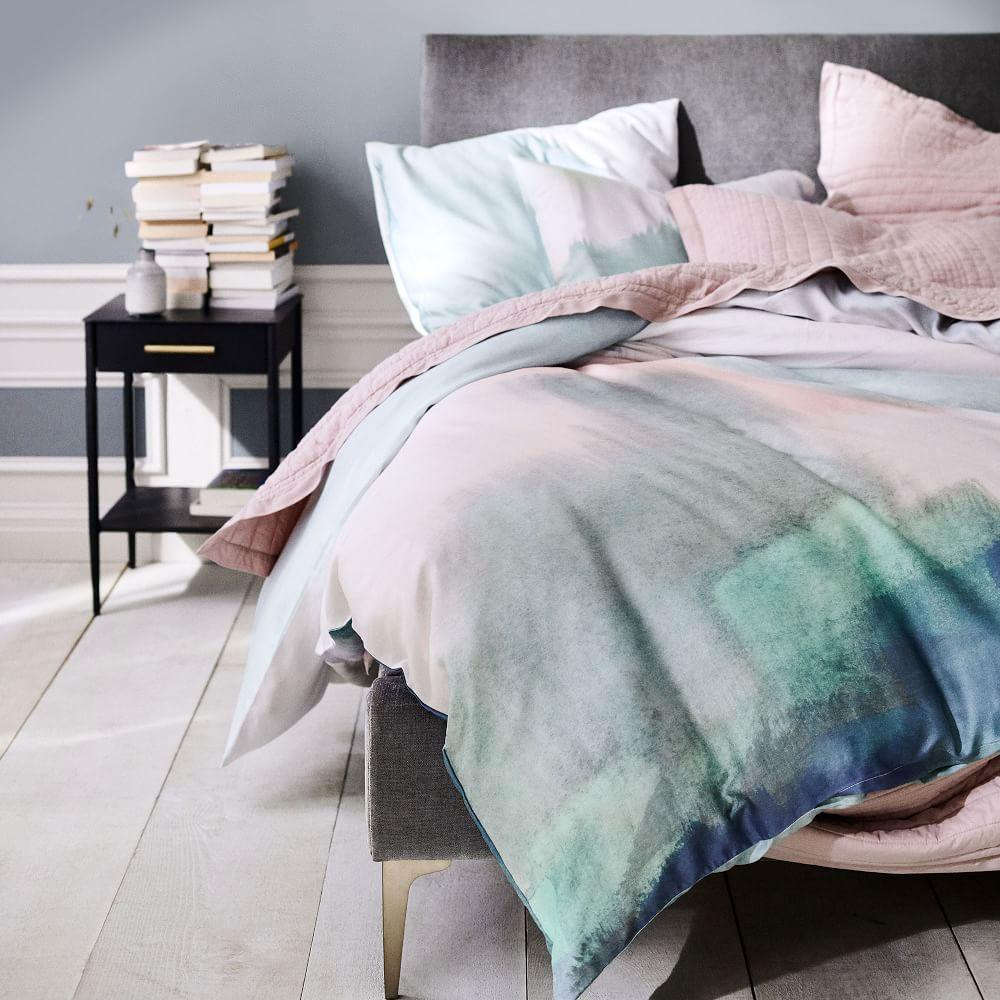 TENCEL™ Abstract Landscape Duvet Cover + Pillowcases