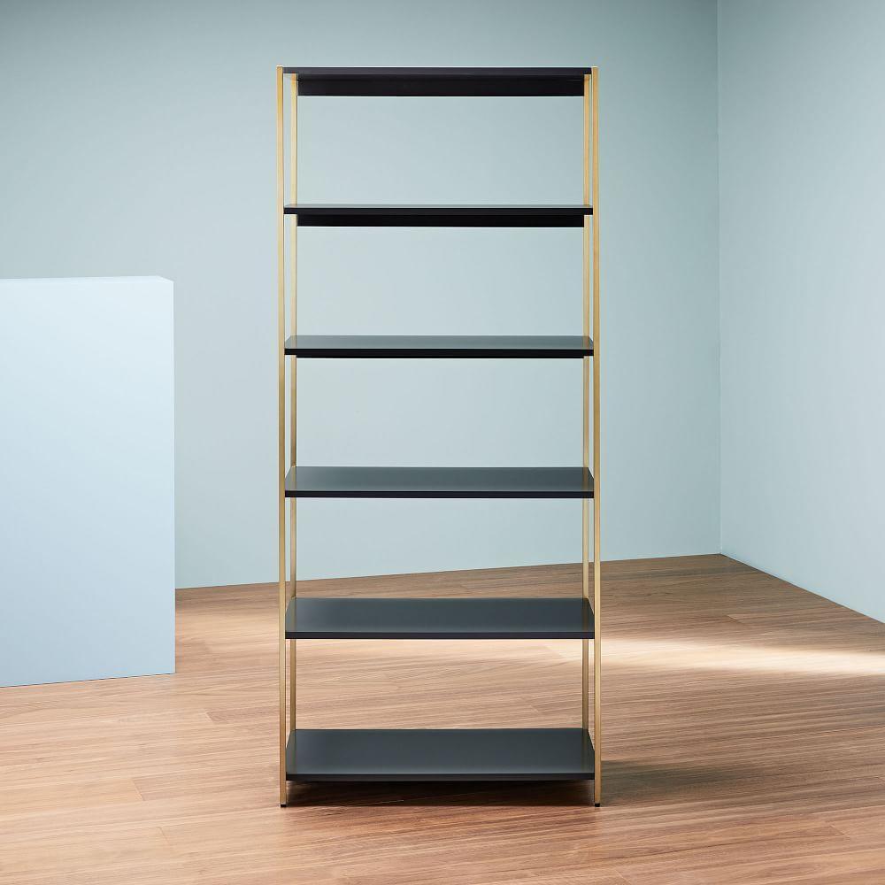 Zane Wide Bookshelf - Grey