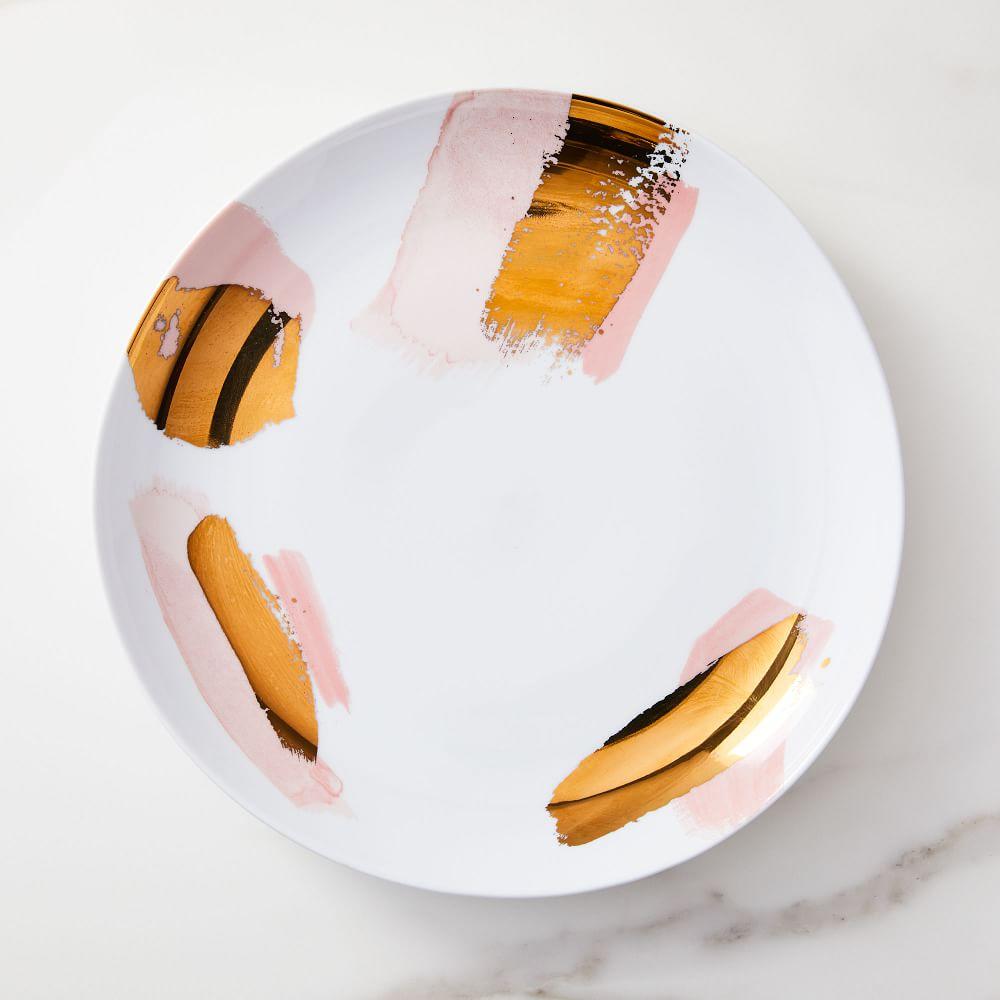 Gilded Brushstrokes Dinner Plate
