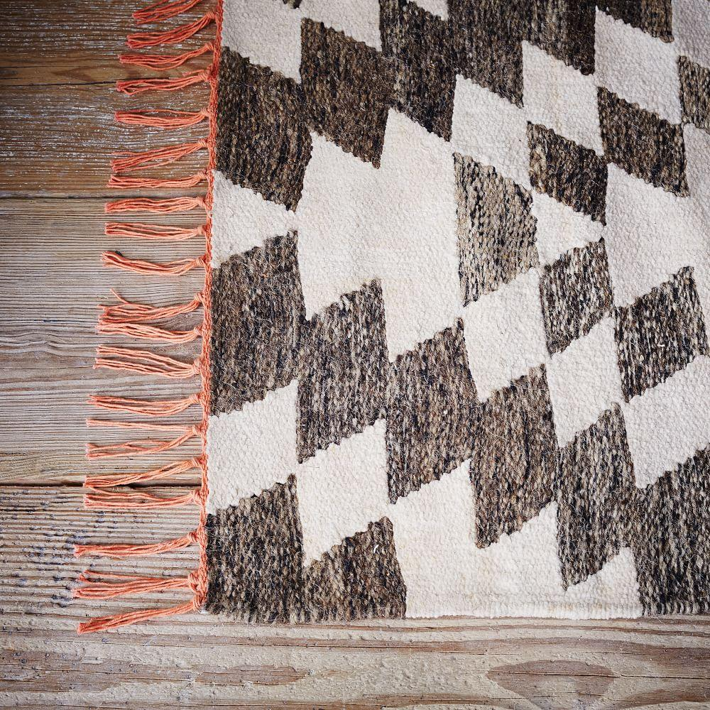 Palmette Chenille Wool Kilim Rug West Elm Uk