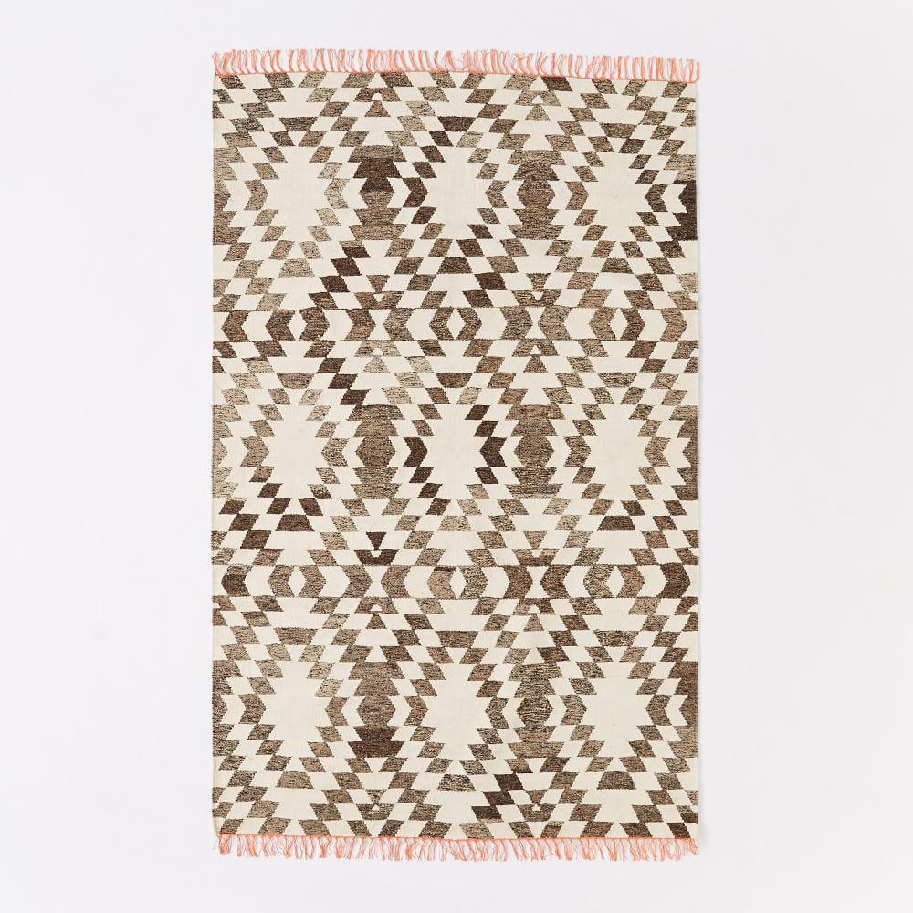 Palmette Chenille Wool Kilim Rug West Elm Uk