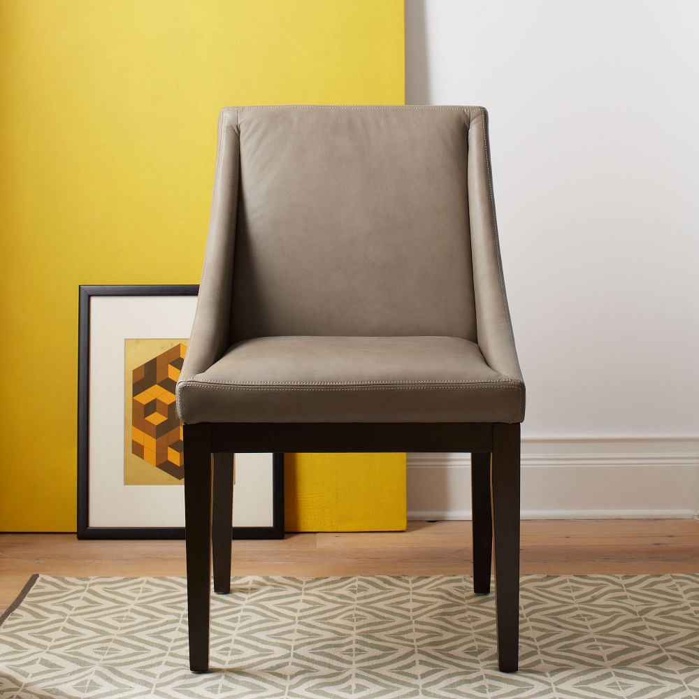 Curved Leather Chair West Elm Uk