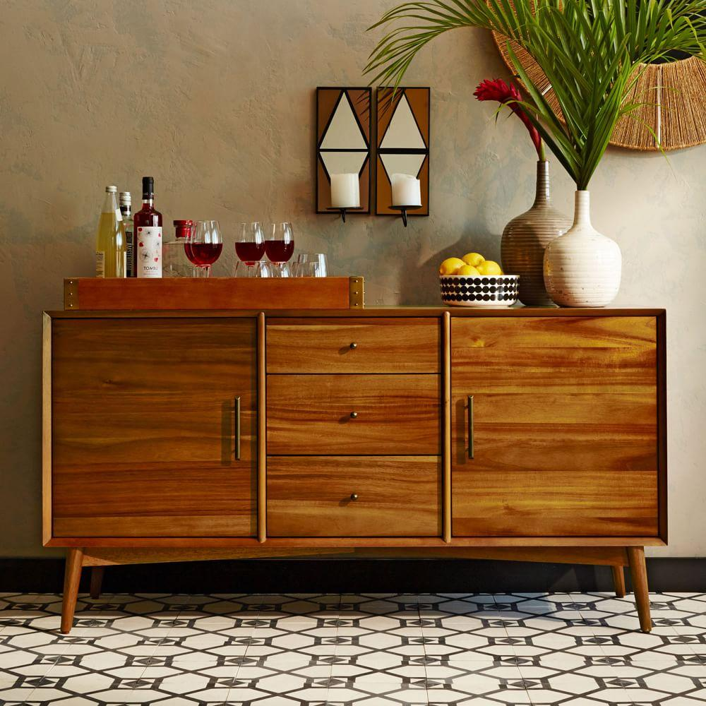 Mid century sideboard large west elm uk - Sideboard mid century ...