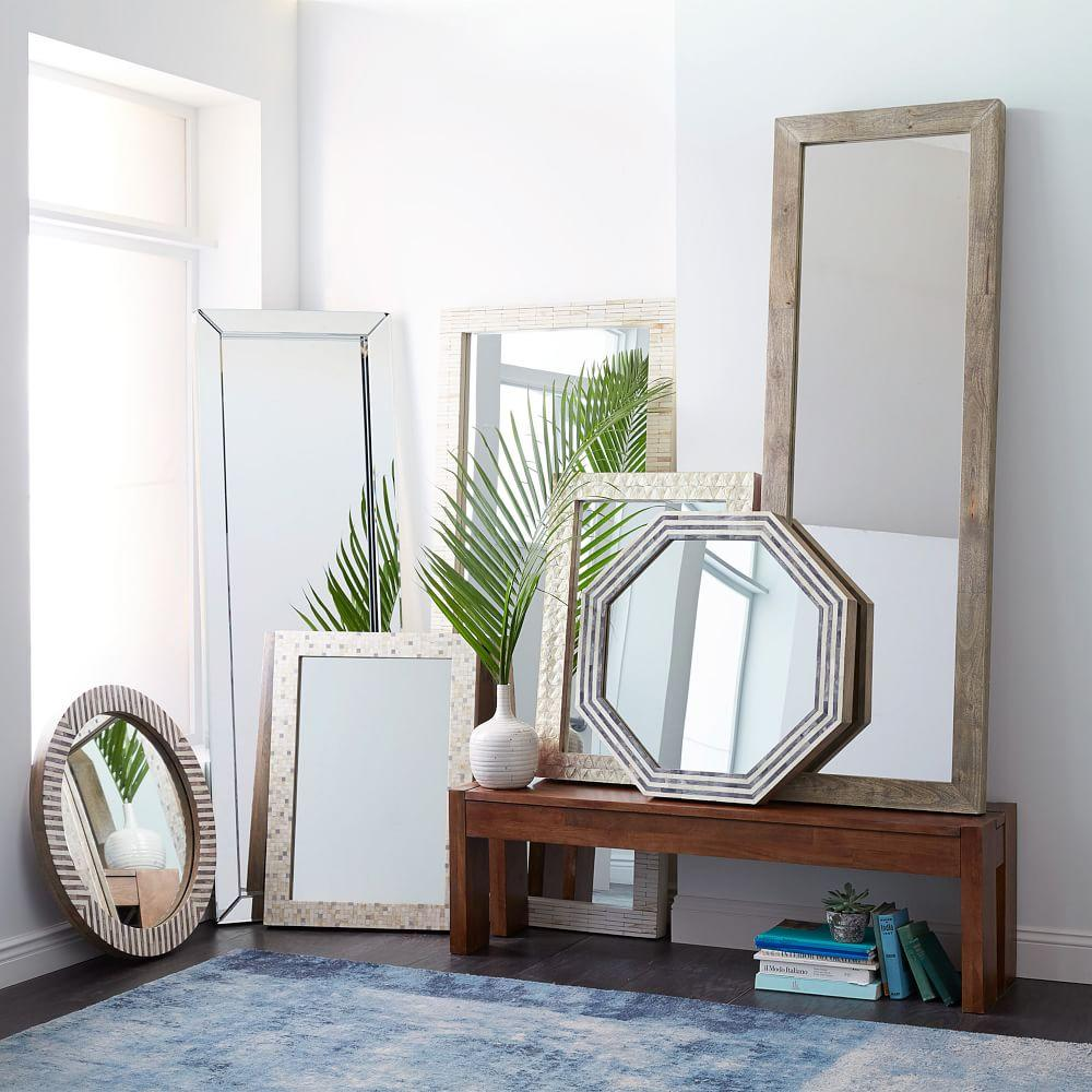 Parsons octagonal mirror grey herringbone west elm uk parsons octagonal mirror grey herringbone amipublicfo Image collections