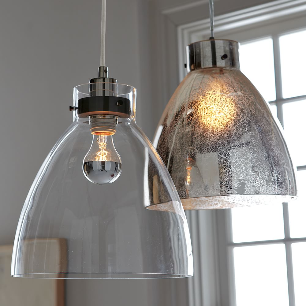 Industrial Ceiling Lamp Clear Glass West Elm Uk
