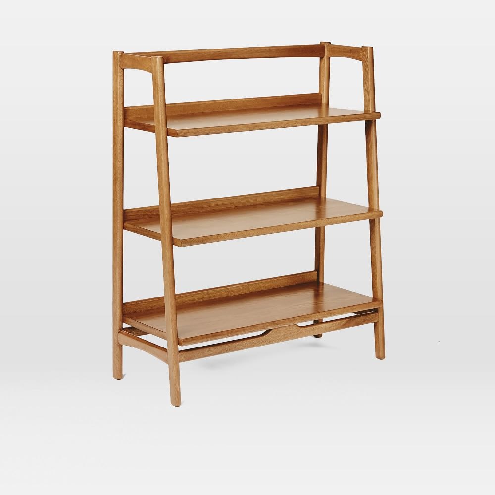 mid century bookshelf low west elm uk. Black Bedroom Furniture Sets. Home Design Ideas
