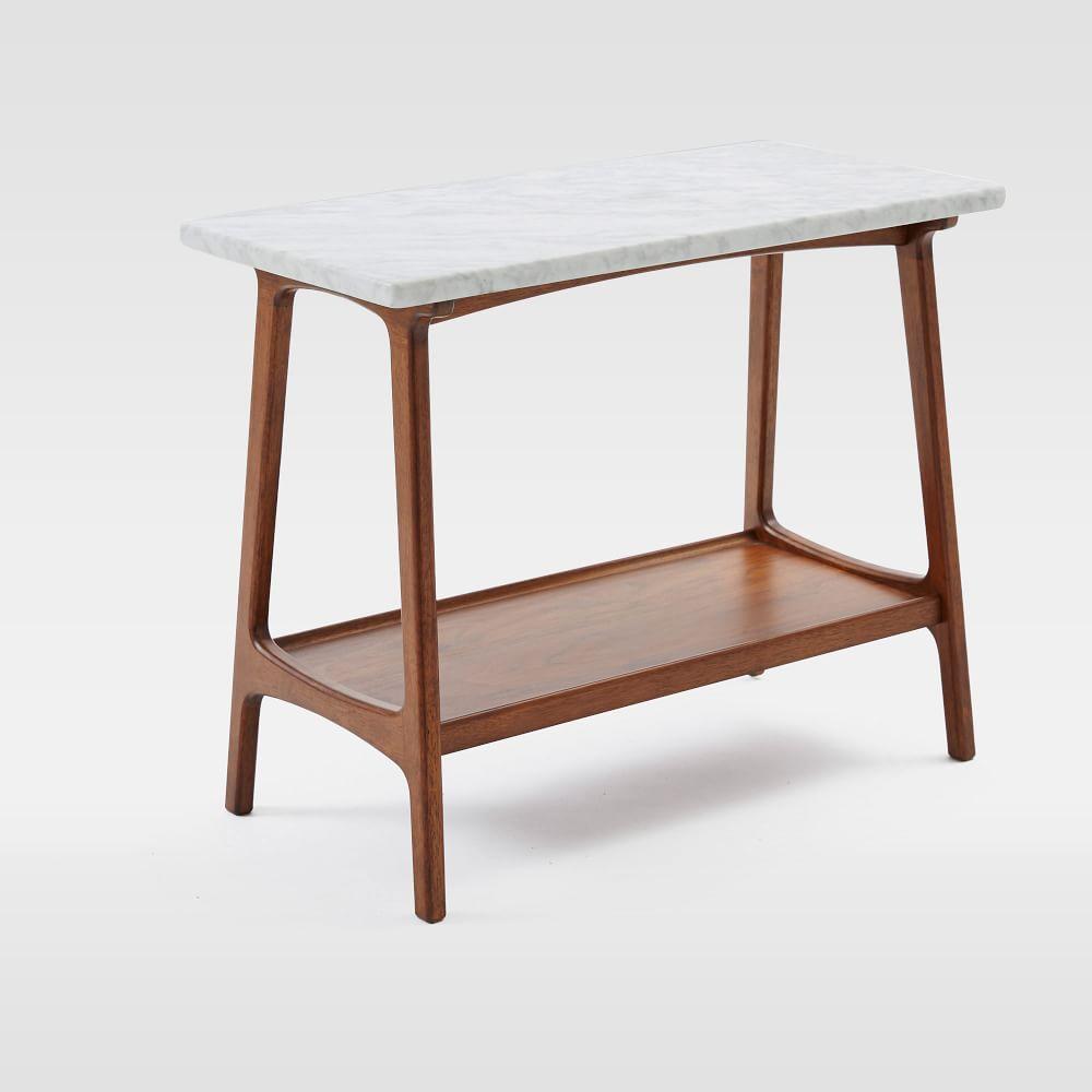 Reeve Mid Century Side Table Marble West Elm Uk