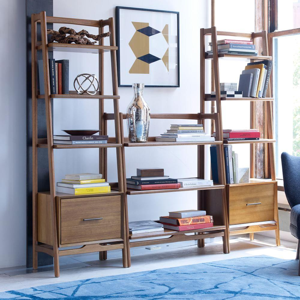 mid century 56 cm bookshelf acorn west elm uk. Black Bedroom Furniture Sets. Home Design Ideas
