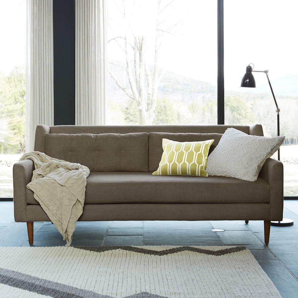 crosby sofa shale 203 cm west elm uk. Black Bedroom Furniture Sets. Home Design Ideas